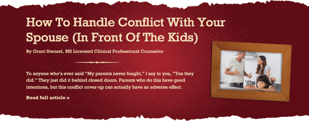 How to Handle Conflict in Front of Yours Kids