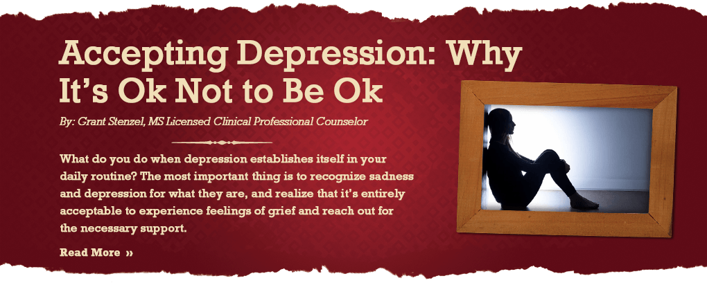 Accepting Depression: Why It's Ok Not to Be Ok