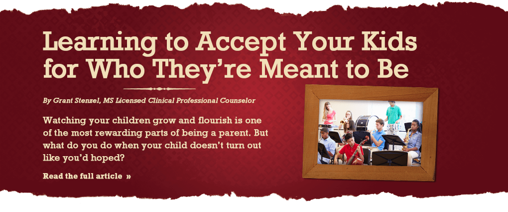 Learning to accept your kids for who they are meant to be