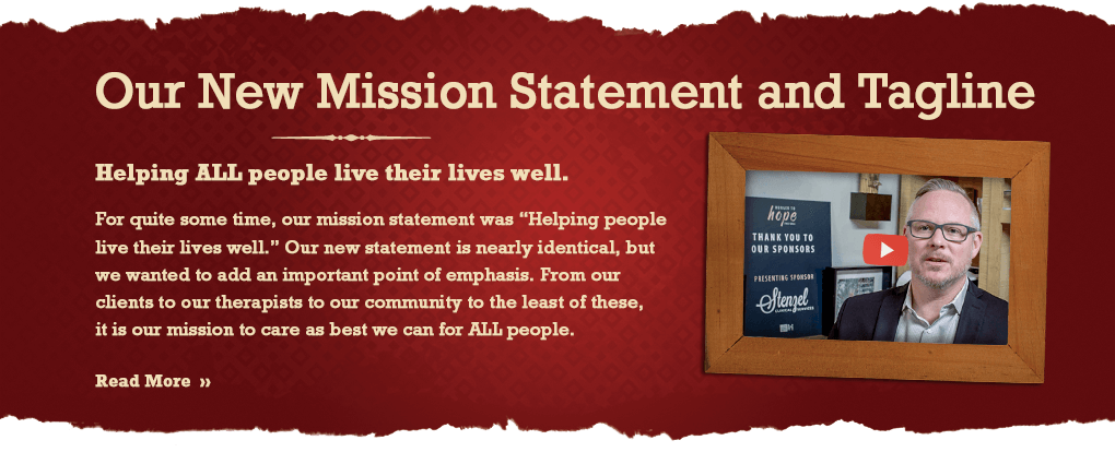 Our new mission statement and tagline